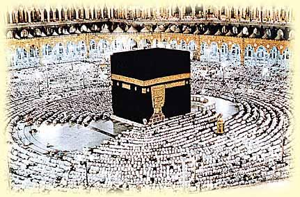 Pilger beten in der haram Moschee in Makkah