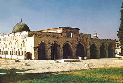 La mezquita del Aqsa en Jerusalén